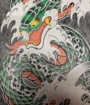 蛇 波 図柄 snake